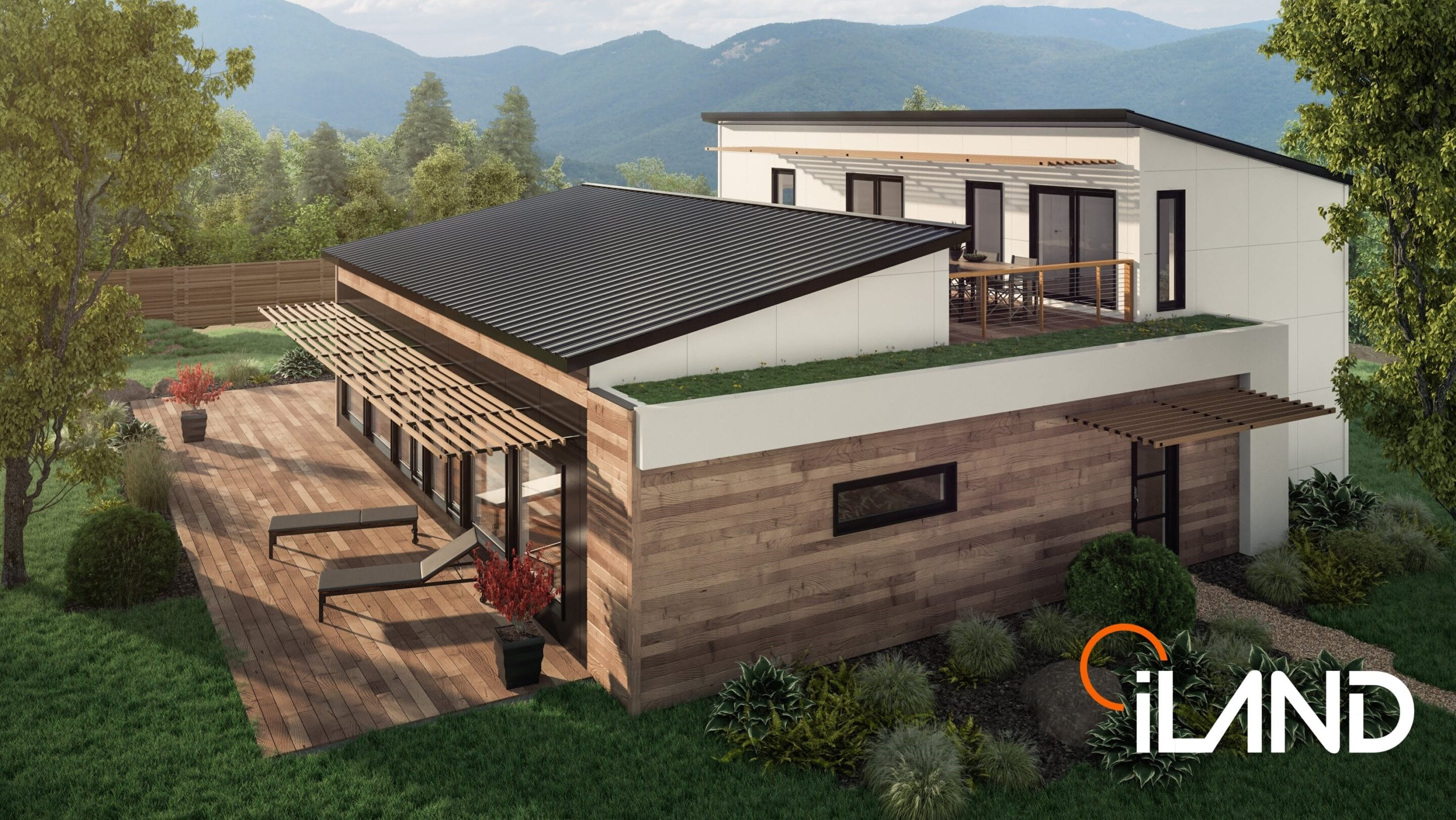 Two storey modular home with intergenerational possibilities