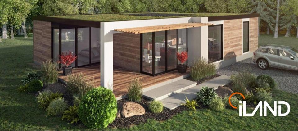 St-Faustin residential domain tiny modular model home
